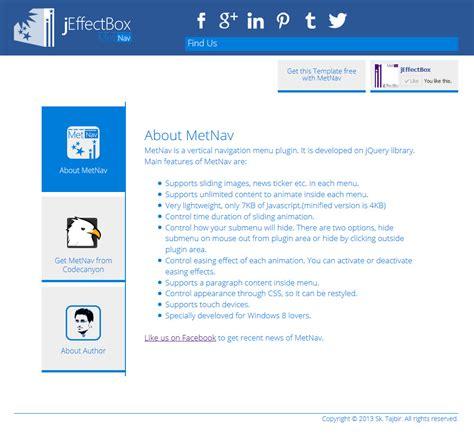 metnav a jquery navigation menu based on metro ui by