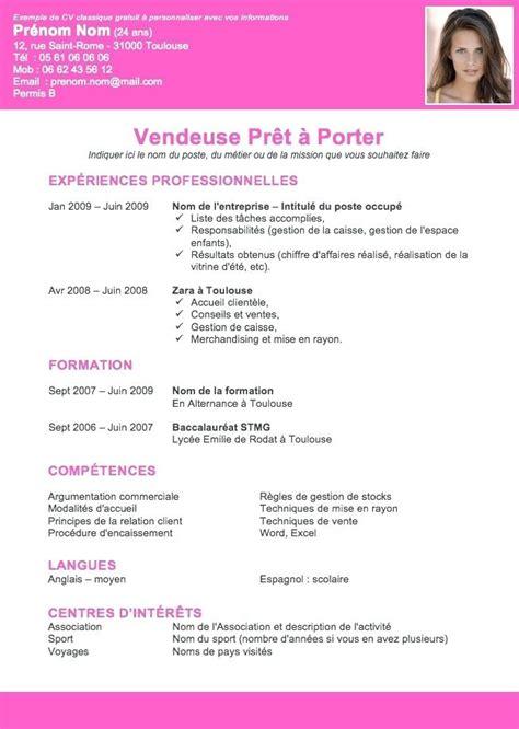 écrire Un Cv Exemple by Aide A Creer Un Cv Aide Pour Faire Un Cv Congngheso Info