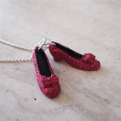 ruby slippers necklace ruby slippers necklace wizard of oz necklace
