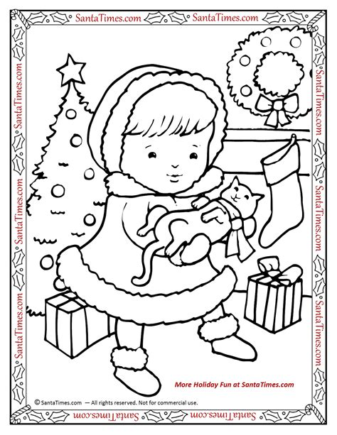 merry christmas coloring pages games hello christmas kitty printable coloring page