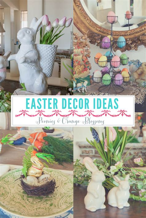 peonies and orange blossoms easter decorating ideas an