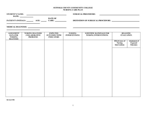 nursing plan template best photos of sle care plan template nursing care