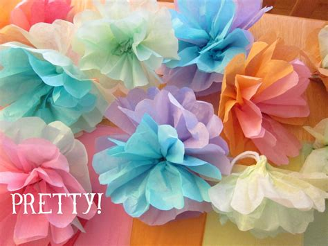 How To Make Flowers With Tissue Paper - shore society diy tissue paper flowers