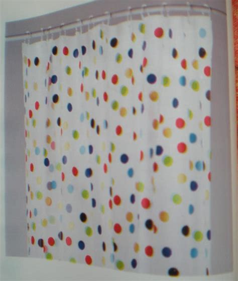 polka dot shower curtains fab ikea multicoloured spotty polka dot shower curtain ebay
