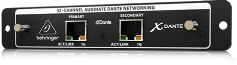 Behringer X Dante 32 Channel Dante Card Expansion Mixer Digital X32 behringer x dante 32 ch dante i o expansion card for x32 compass
