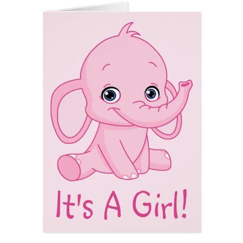 Girlset Pink Elephant it s a pink elephant greeting card zazzle