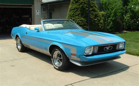 1974 ford mustang convertible grabber blue 1973 ford mustang convertible