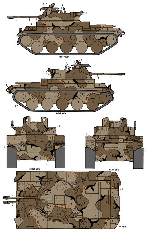 m42 duster merdc gray desert camouflage color profile and paint guide