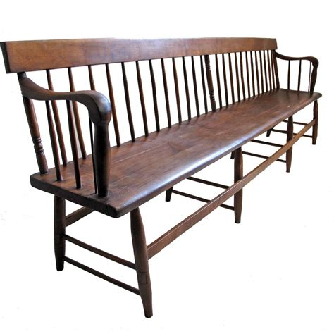 spindle back bench extraordinary pine and mixed wood spindle back bench