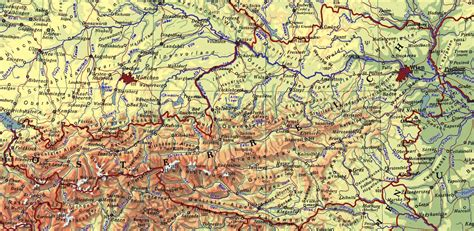physical map of austria index of country europe austria maps