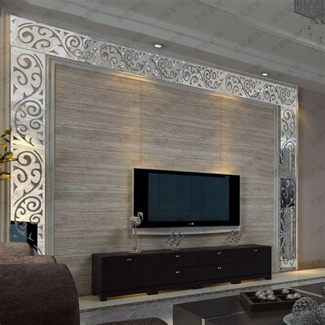 mirror wall sticker 3d acrylic mirror wall stickers tv background wall