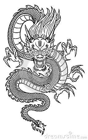 drawn chinese dragon original 3285700