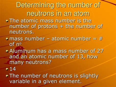 how many protons are in strontium ppt determining the number of subatomic particles in an