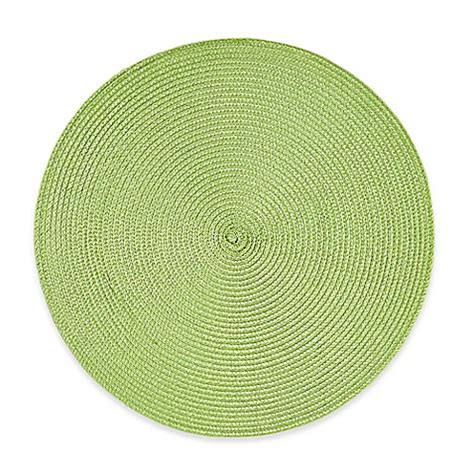 libro round to ours setting buy round placemat in lime green from bed bath beyond