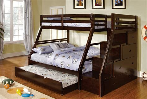 queen and twin bunk bed twin over queen bunk bed 6195