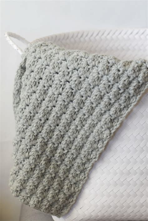Crochet Blanket Pattern by Simple Crocheted Blanket Go To Pattern In A Stitch