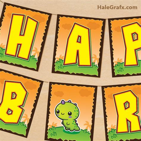 free printable dinosaur happy birthday banner free printable kawaii dinosaur birthday banner