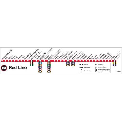 chicago redline map ctagifts line map poster