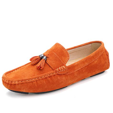 loafers cheap get cheap orange suede loafers