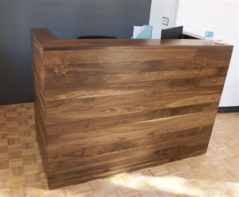 walnut reception desk solid walnut reception desk bay area custom furniture