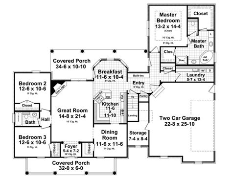 house plan chp 42922 at coolhouseplans