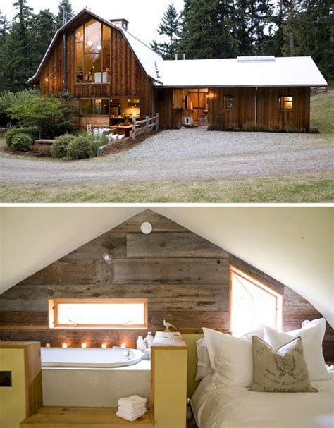 beautiful wood barn renovated into a fresh new home