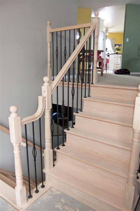 Custom Wood Handrails For Stairs custom wood stairs and handrails in kingston ontario