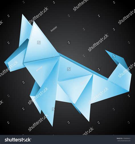 Origami Husky - origami paper husky stock vector illustration