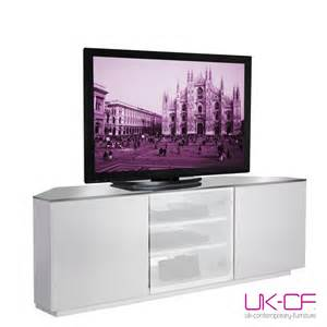 Bookshelf With Tv Space Ukcf Milan White Gloss Corner Tv Stand With White Glass