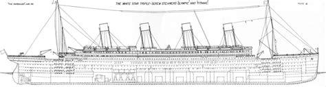 dessin bateau titanic plans d 233 taill 233 s du titanic