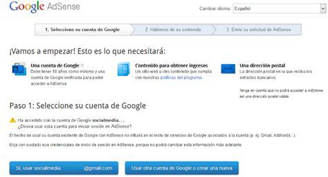 tutorial para google adsense tutorial como crear y configurar una cuenta de google
