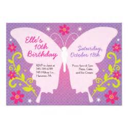 butterfly birthday party invitations zazzle