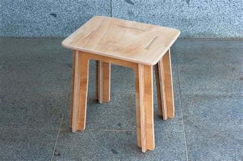 flatpack furniture genius simple knock stool made from plywood flat pack