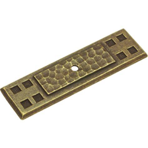 cabinet hardware backplates lowes shop hickory hardware brass cabinet backplate at lowes