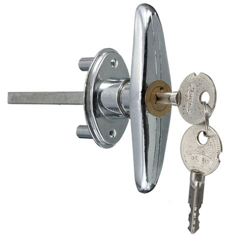 garage door handle lock sa garage door lock t handle with key metal copper