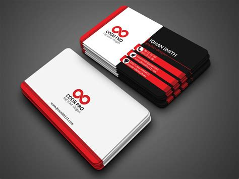 Adobe Photoshop Cs6 Business Card Template by Professional Visiting Card Design Psd Cyberuse