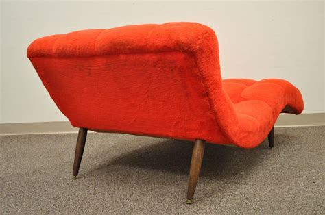 double wide chaise lounge vintage mid century modern double wide wave chaise lounge