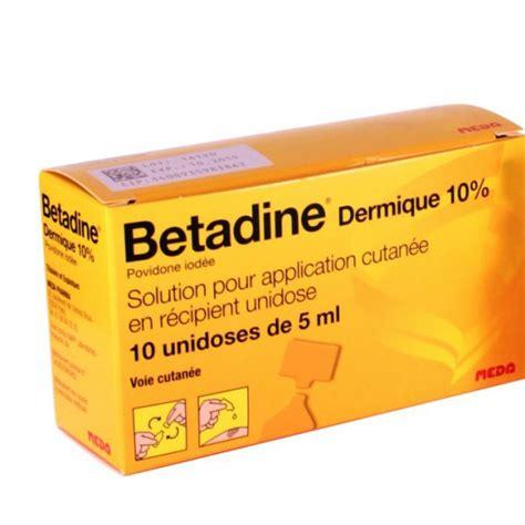 Betadine Sol 5ml betadine 10 solution locale 10 doses 5ml pharmacie