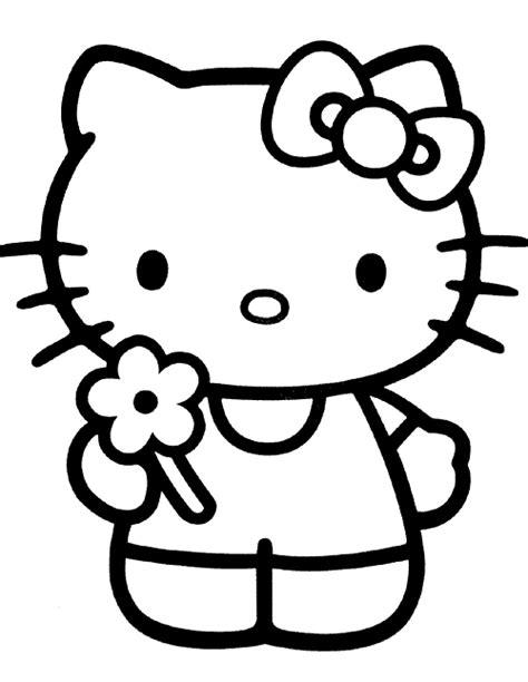 dibujos infantiles kitty dibujo para colorear infantil de la hello kitty florecilla