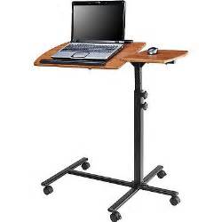 Standing Laptop Desk Adjustable Adjustable Height Laptop Computer Standing Desk Cart With Wheels What S It Worth