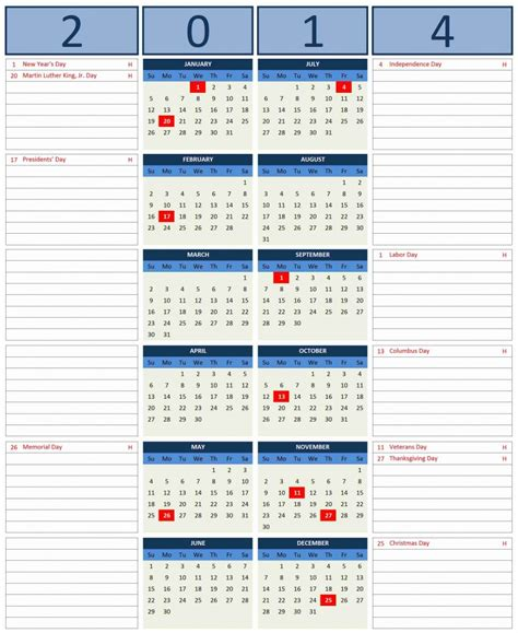 calendar 2014 with notes space autos post
