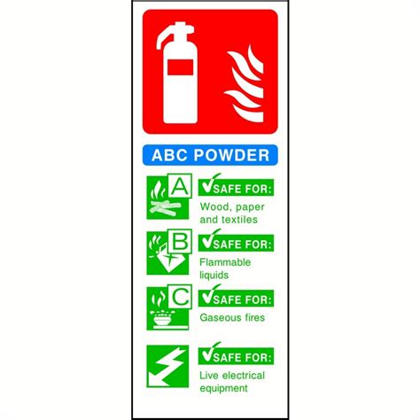 signs that a is abc powder extinguisher sign sk signs labels