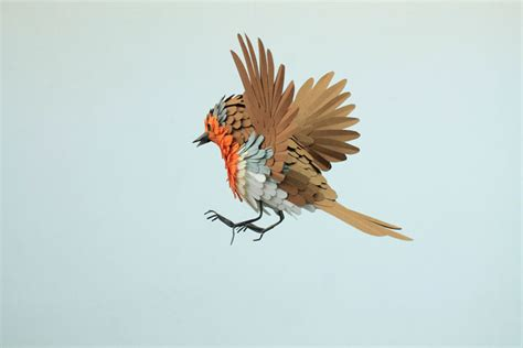paper bird sculpture realistic bird paper sculptures by diana beltran herrera yatzer
