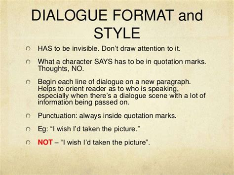 format dialogue essay creative writing dialogue ppt