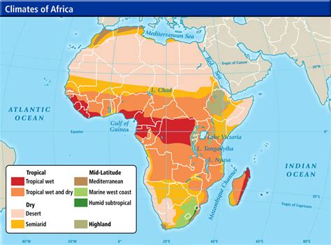 climate map of africa world cultures maps