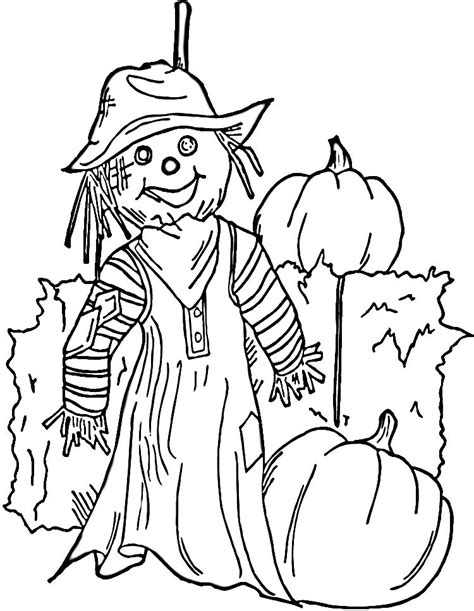 scarecrow coloring pages halloween1 coloring kids
