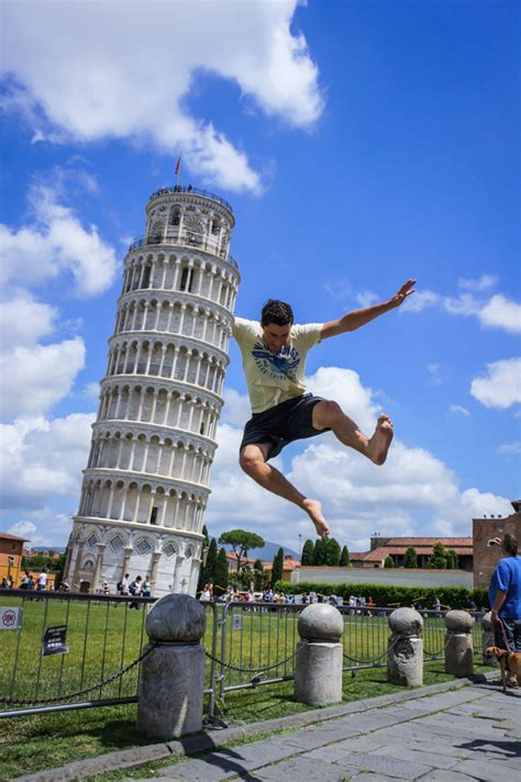This Was Not Trick Photography by Trick Photography At The Leaning Tower Of Pisa Travel