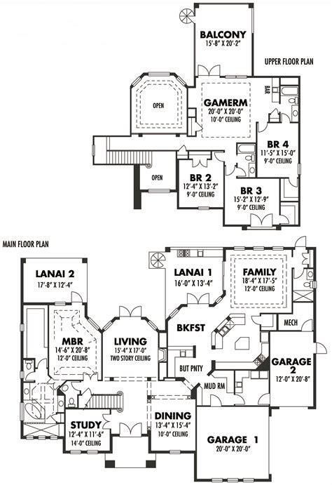 tuscan home floor plans tuscan home plans home design 4204
