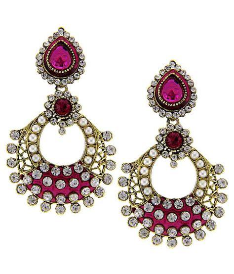 pink earrings celebrity tradisyon bollywood celebrity inspired pink dangle earring