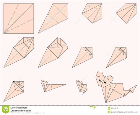 How To Do Origami Cat - origami cat illustration et illustration de